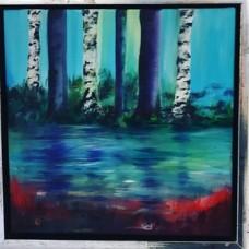 Malerier til salg birketræer
