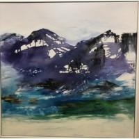 Abstrakt landskaber maleri med abstraktion