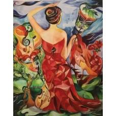Flamencodanser med fantasi. Plakat 70 x 50