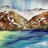 Maleri Inspiration fra norske fjorde
