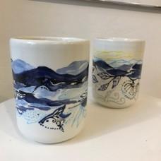 Keramik vaser unikt håndmalede vaser