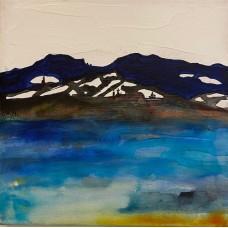 Maleri med landskab 20 x 20
