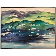 Maleri 80 x 60 moderne landskab