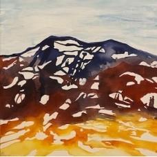 Moderne kunst. Landskab 40 x 40 brune nuancer