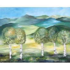 Natur maleri 100 x 80 cm