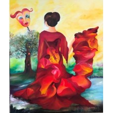 Flamencodanser maleri