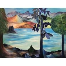 Landskabsmaleri inspireret fra Munchen