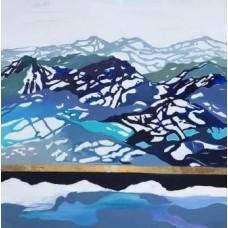 Moderne kunst maleri. Nordisk landskab