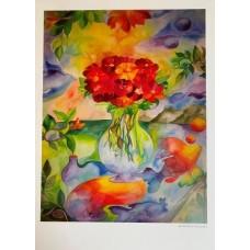 Blomster plakat 70 x 50