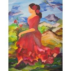 Maleri Flamincodanserinde 100 x 80 maleri