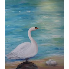 Mette Hansgaard, maleri svanen med æggene