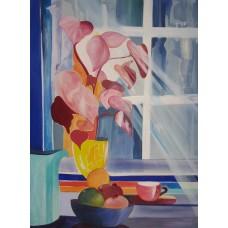 Galleri H malerier stilleben af Mette Hansgaard